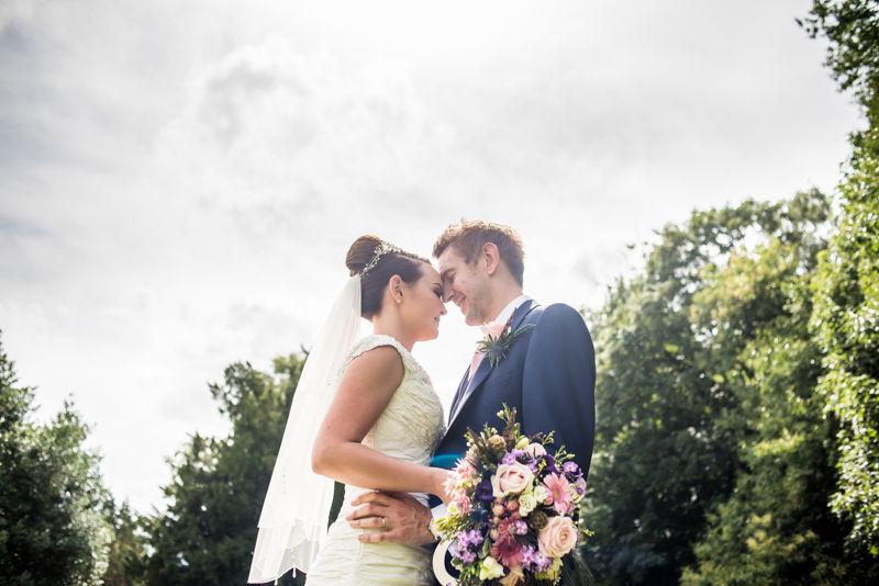 Summer sunshine wedding photographs at Hazel Gap Barn