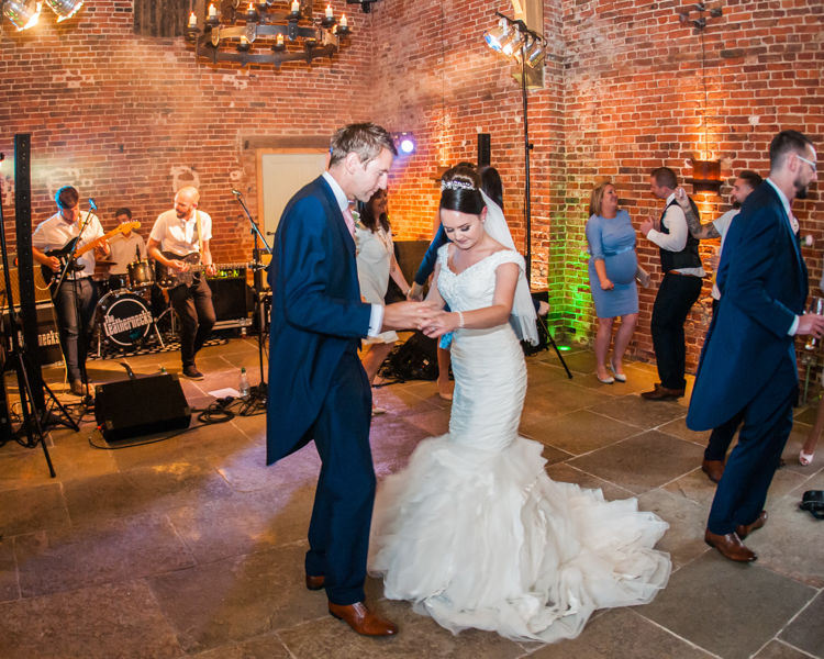 Hazel Gap Barn first dance wedding photographs for Joelle & Scott