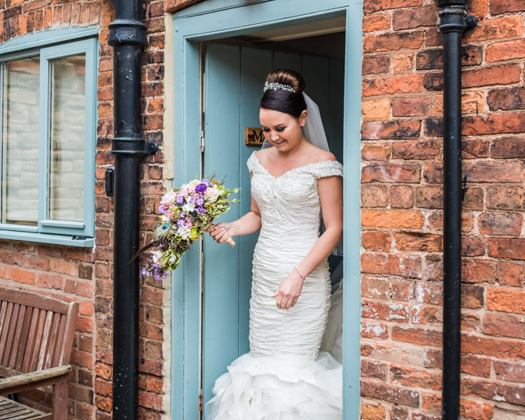 Joelle on her way to the wedding in Sheffield