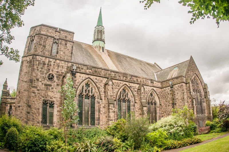 St Andrew's Church in Sheffield in the summer