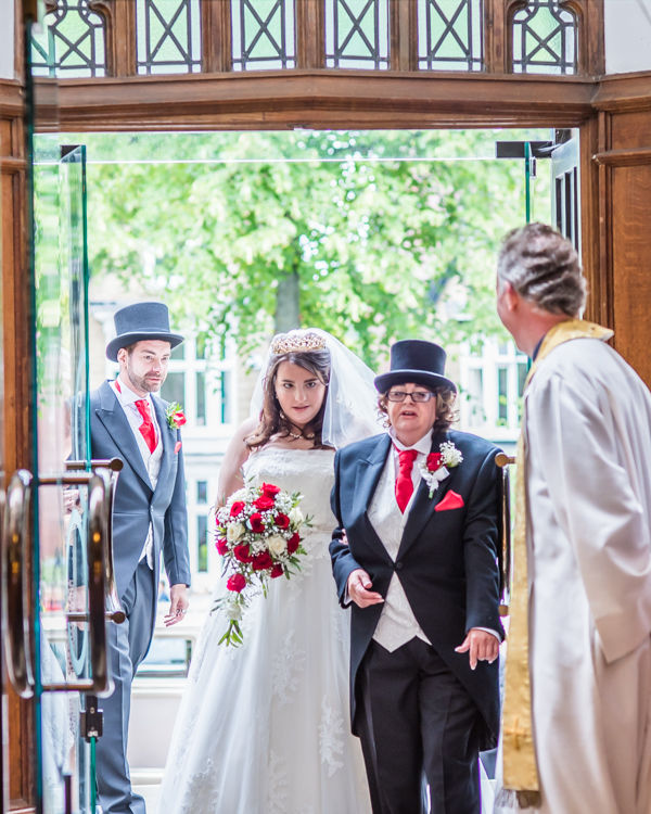 St Andrews Church, Psalter Lane bride entering Sheffield