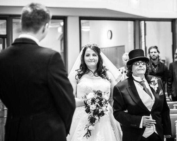 Bride walk St Andrews Church, Sheffield