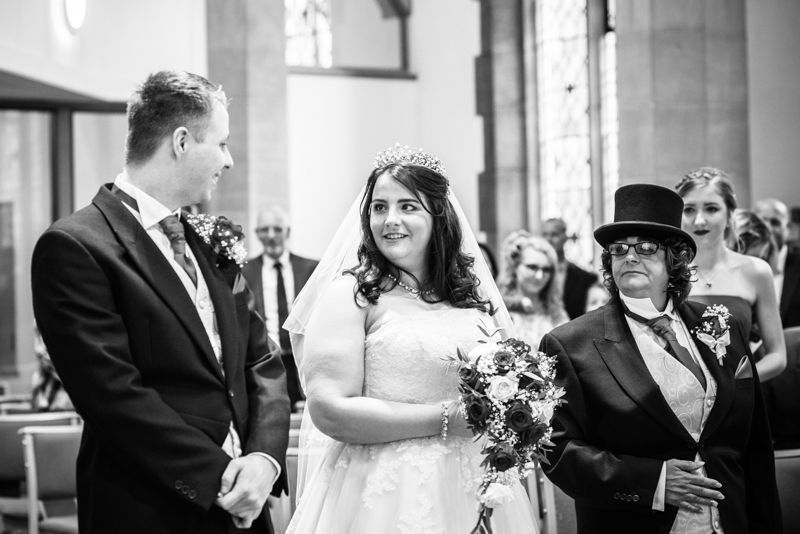 First look for Helen & Tom in St Andrew's Church in Sheffield