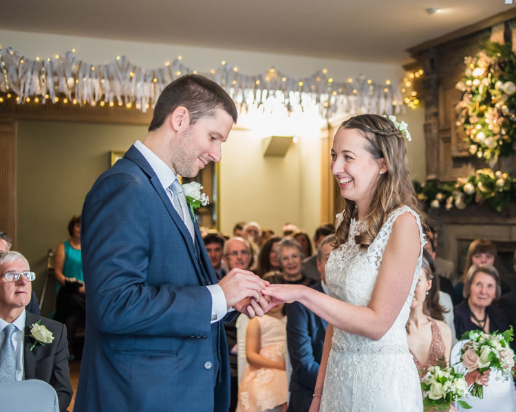 ring exchange, Sheffield wedding photographers Whirlowbrook Hall