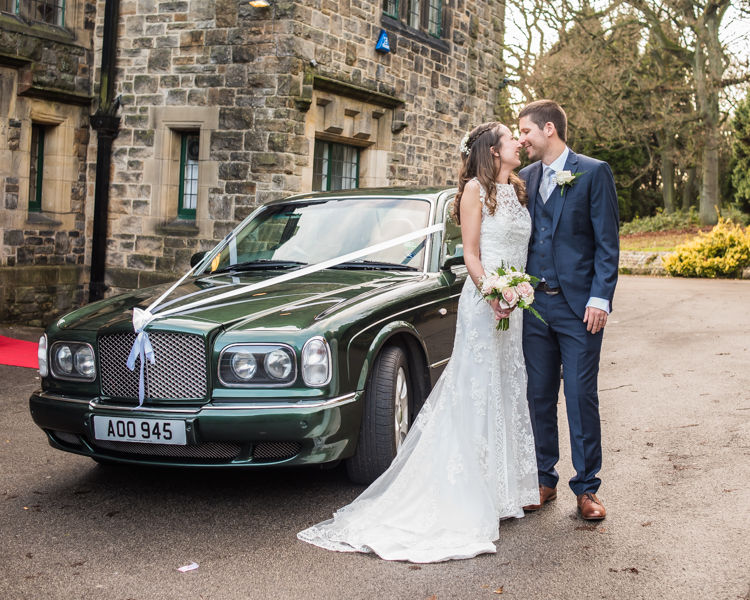 Wedding car Sheffield wedding photographers Whirlowbrook Hall