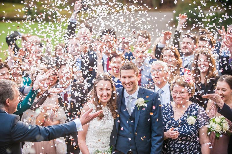 confetti Sheffield wedding photographers Whirlowbrook Hall