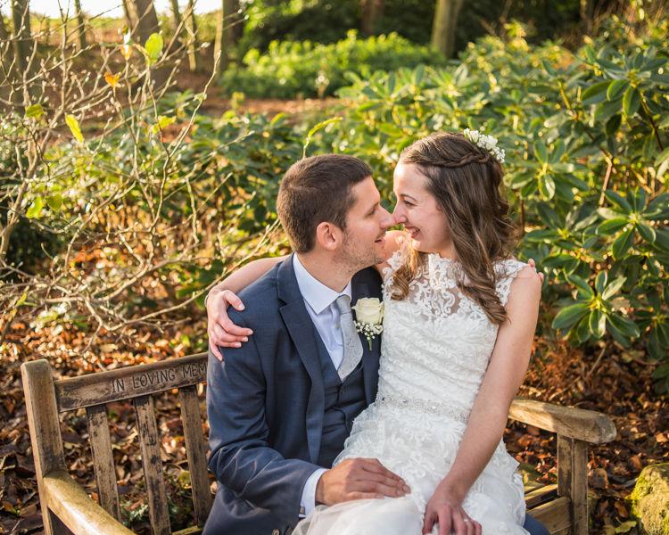 Bride and groom winter wedding Sheffield wedding photographers Whirlowbrook Hall