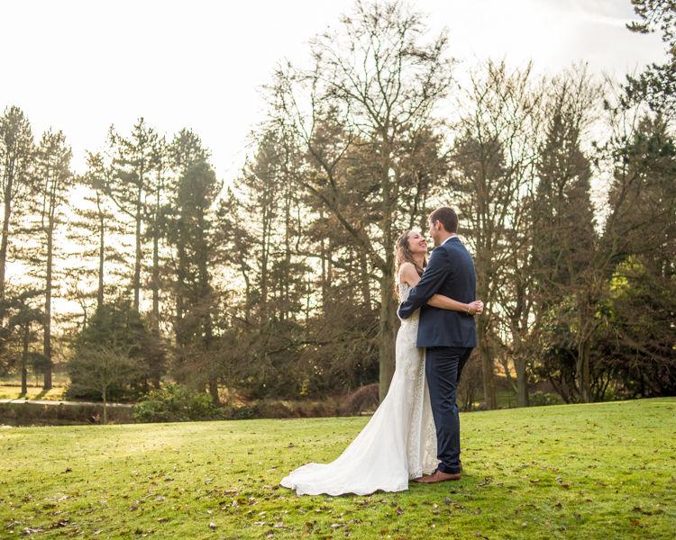 Trees bridal portrait Sheffield wedding photographers Whirlowbrook Hall