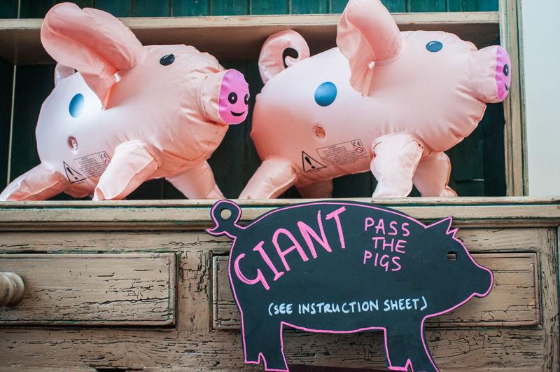 Pass the pigs Sheffield wedding photographers Whirlowbrook Hall