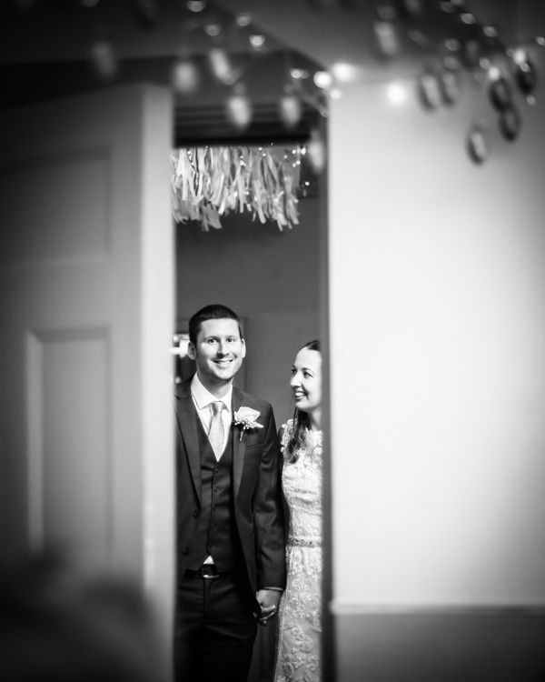 About to enter reception room Sheffield wedding photographers Whirlowbrook Hall