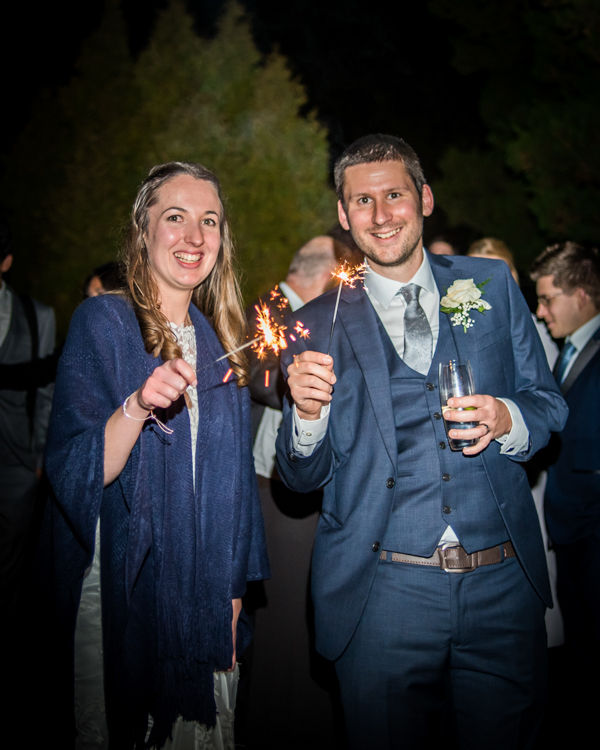 Bride and groom sparklers Sheffield wedding photographers Whirlowbrook Hall