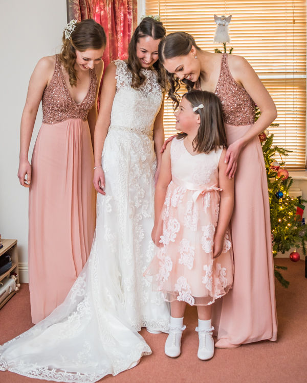 Bride and bridesmaids - Sheffield wedding photographers