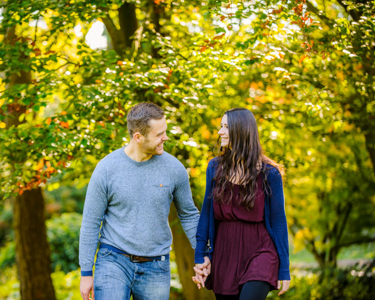 Laughing, pre-wedding portraits, Whirlowbrook Hall