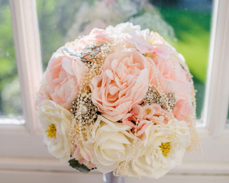 Amanda wedding bouquet Hellaby Hall wedding