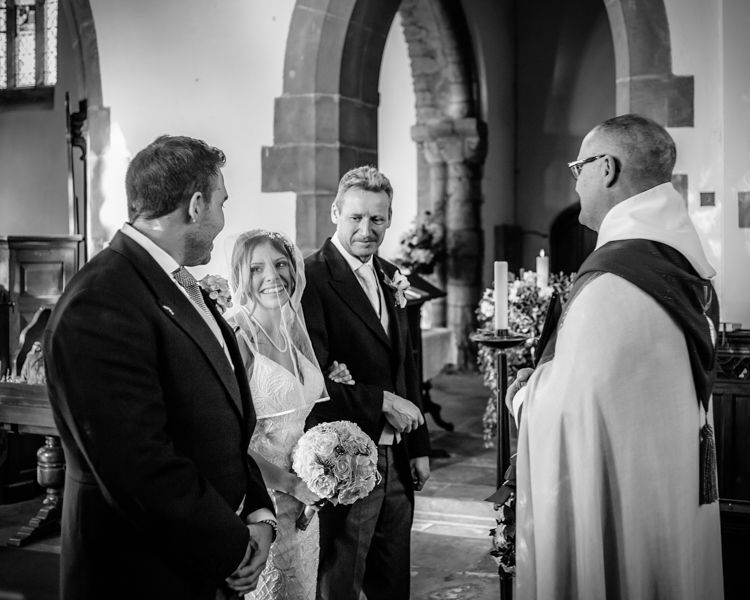Amanda walking down aisle - Hellaby Hall wedding photographers Rotherham