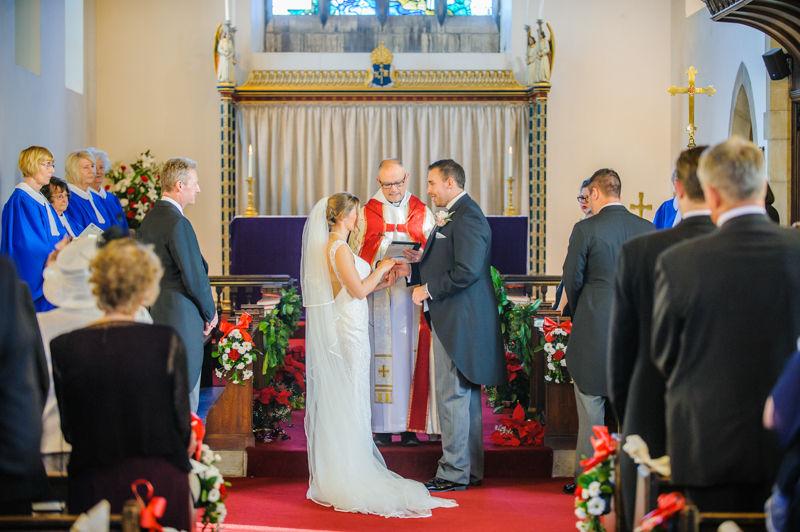 Christmas wedding at Whiston Church Rotherham