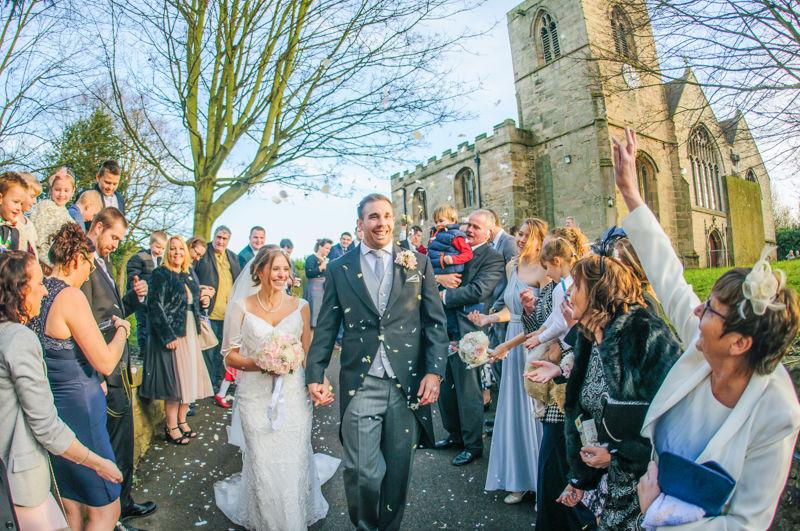 Confetti Hellaby Hall wedding photographers Rotherham
