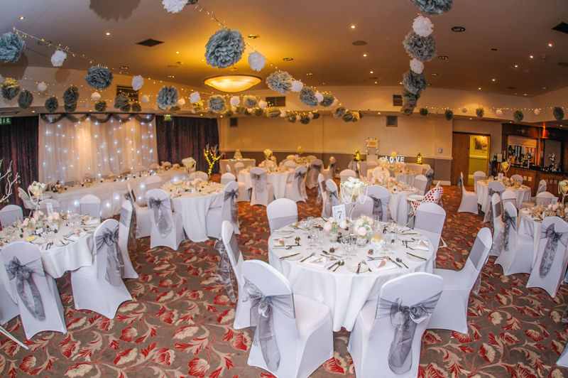 Hellaby Hall interior for wedding reception at Christmas