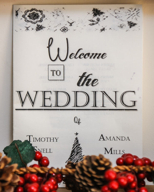 Wedding sign Hellaby Hall wedding photographers Rotherham