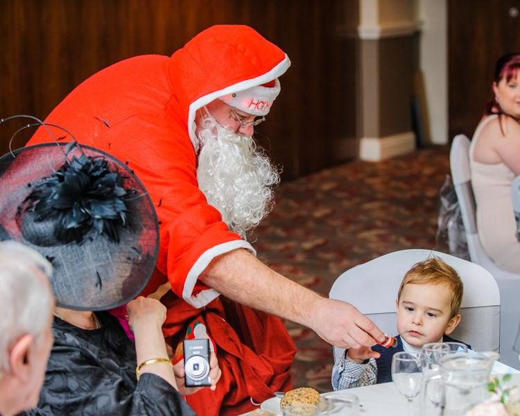 Santa visiting the children, Hellaby Hall wedding photographers Rotherham