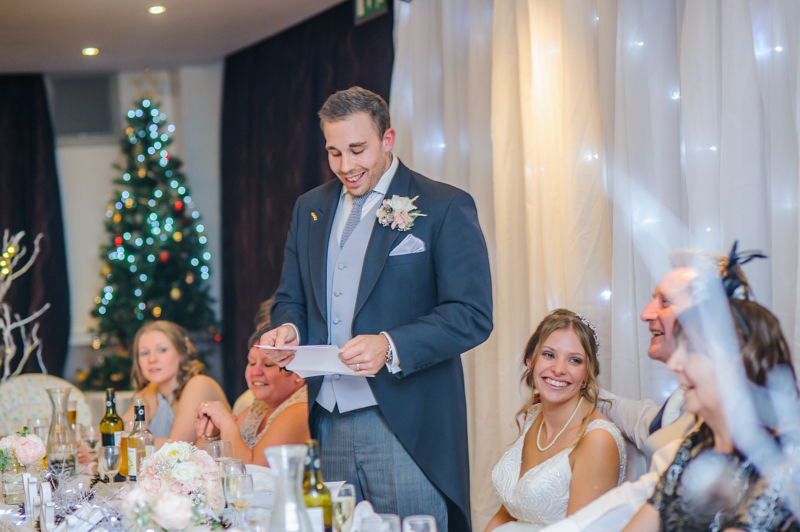 Groom's speech, Hellaby Hall wedding photographers Rotherham
