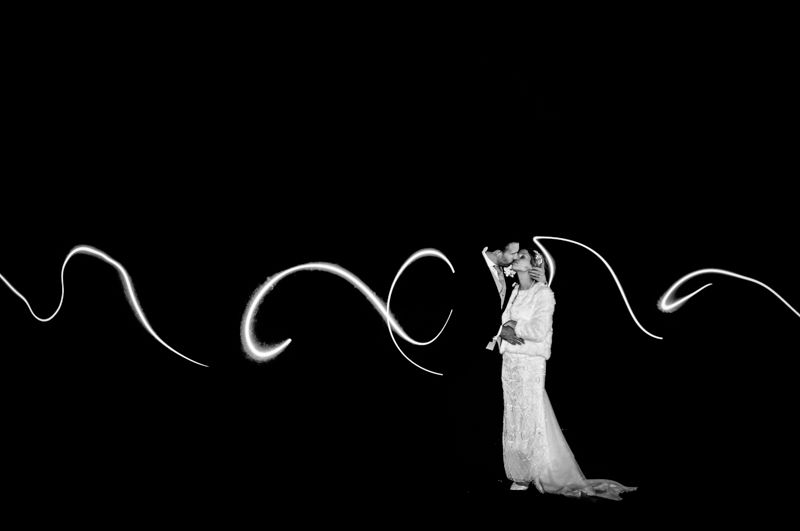 Light trails, Hellaby Hall wedding photographers Rotherham