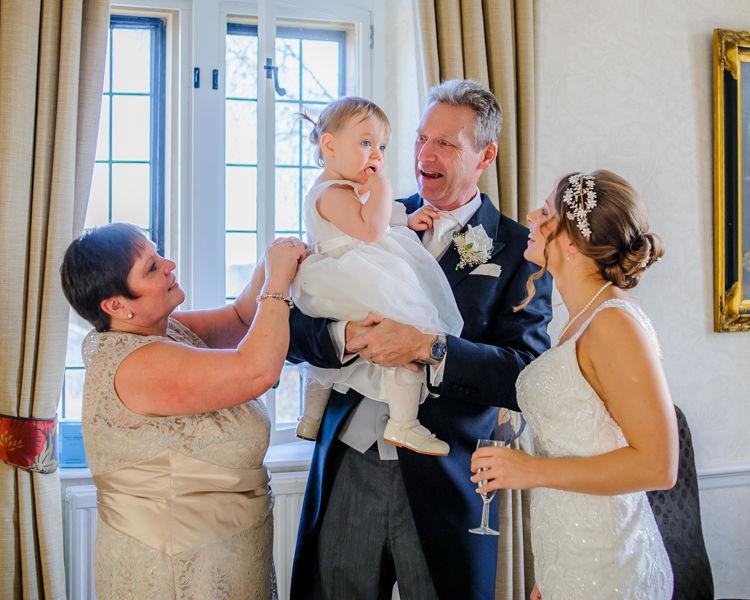 Amanda and her family before wedding Hellaby Hall wedding photographers Rotherham