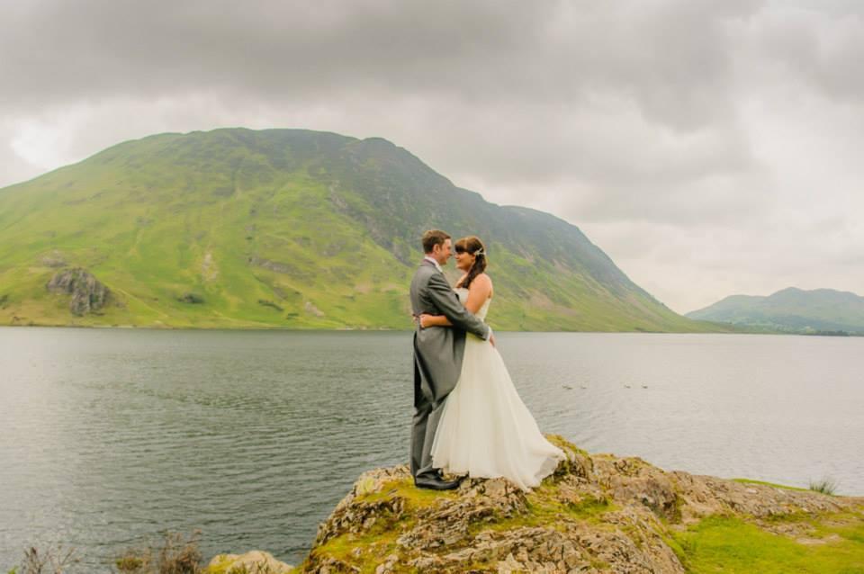 Wedding couple at Lakes, Cumbria wedding photographers
