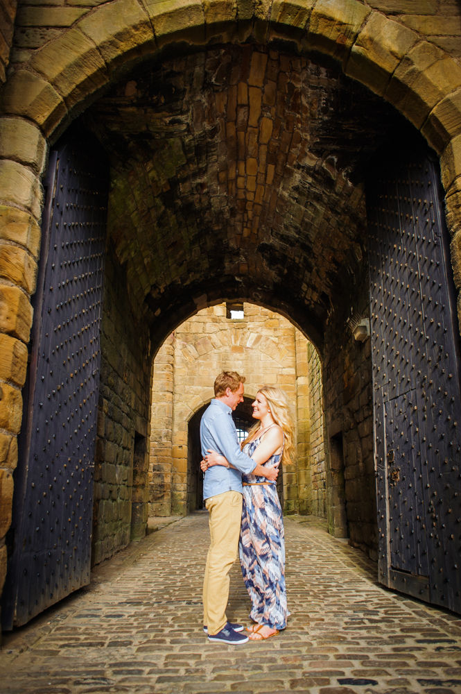 Tynemouth castle engagement portraits