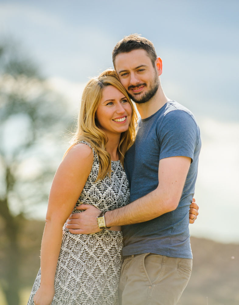 Engagement shoot portraits at Curbar Edge, Sheffield wedding photographers