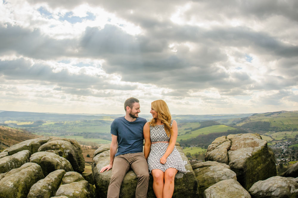 Beca & Tom, Curbar Edge, Sheffield photographers