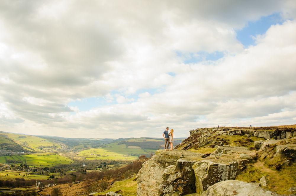 Curbar Edge panoramic, Sheffield photographers