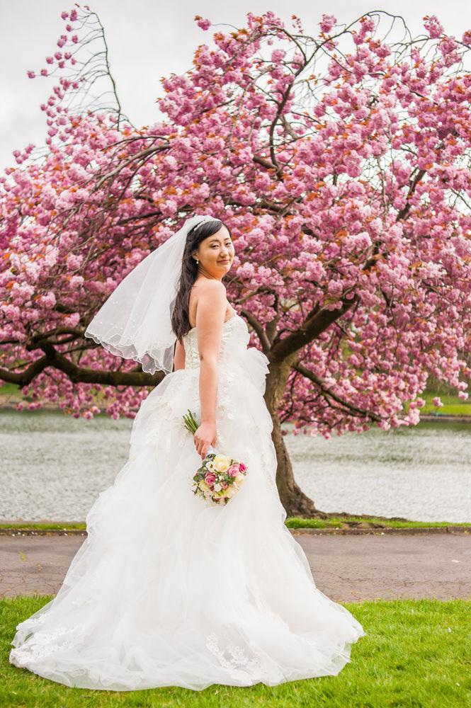 Bride and dress details, Sheffield wedding photographer, Chinese wedding