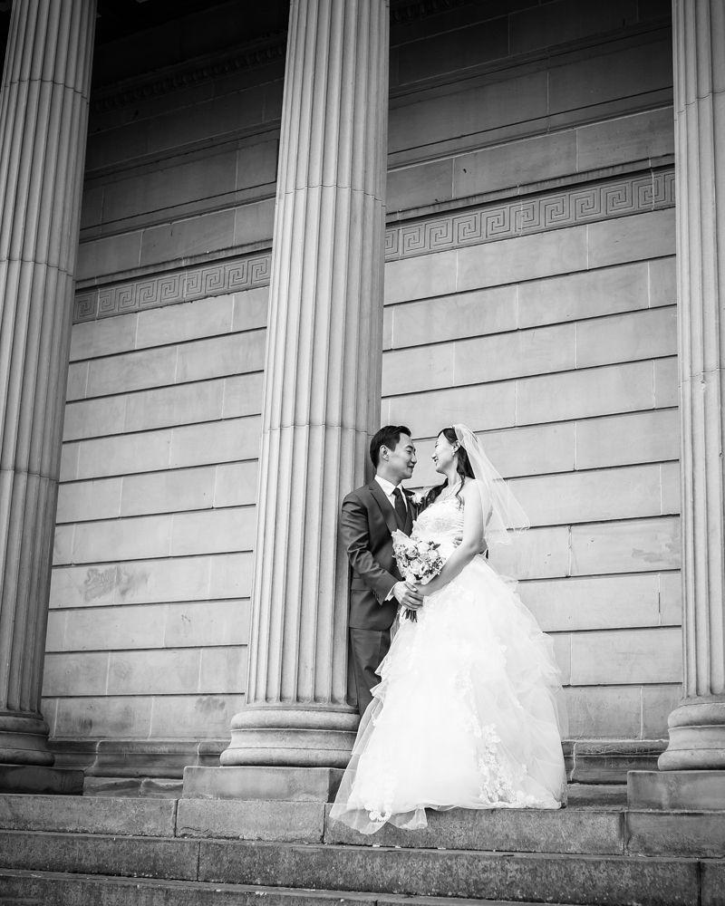 Weston Park Museum bride and groom, Sheffield wedding photographer, Chinese wedding