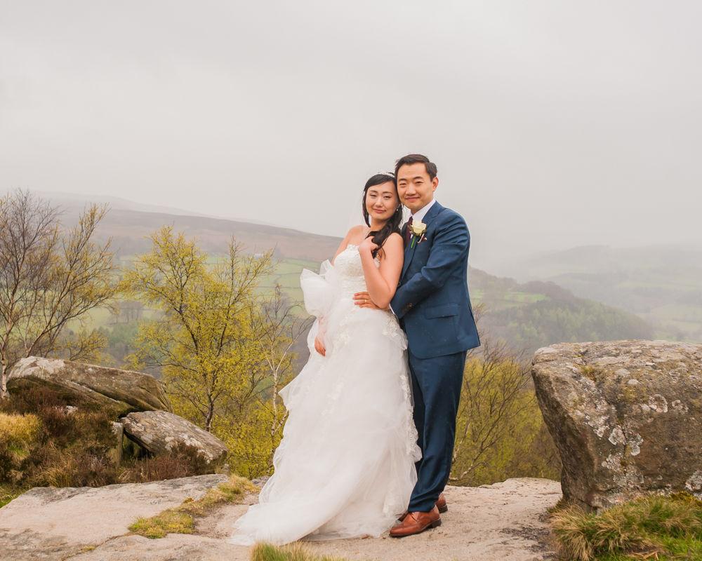 Rocks at Surprise View, Sheffield wedding photographer, Chinese wedding