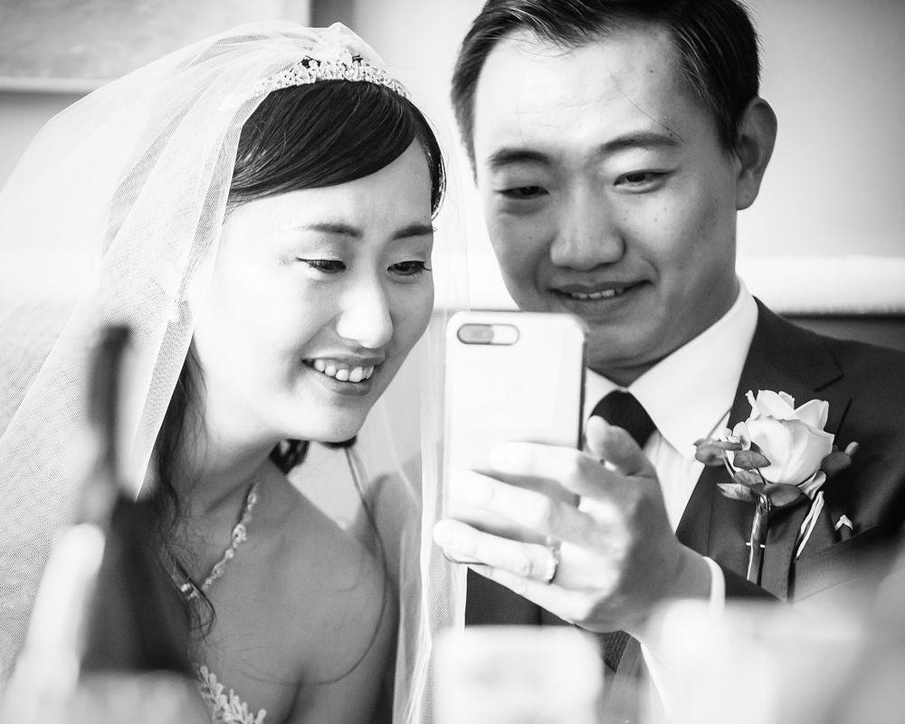 Facetiming, Sheffield wedding photographer, Chinese wedding