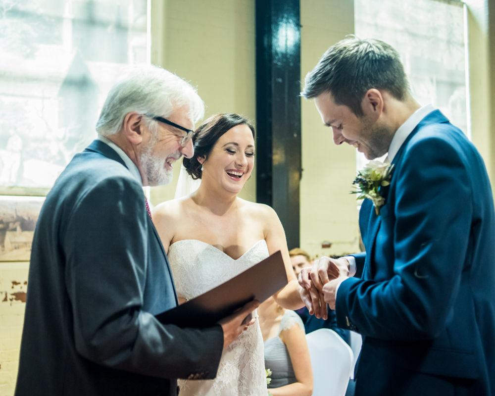 Ring exchange, Kelham Island wedding, Sheffield photographers