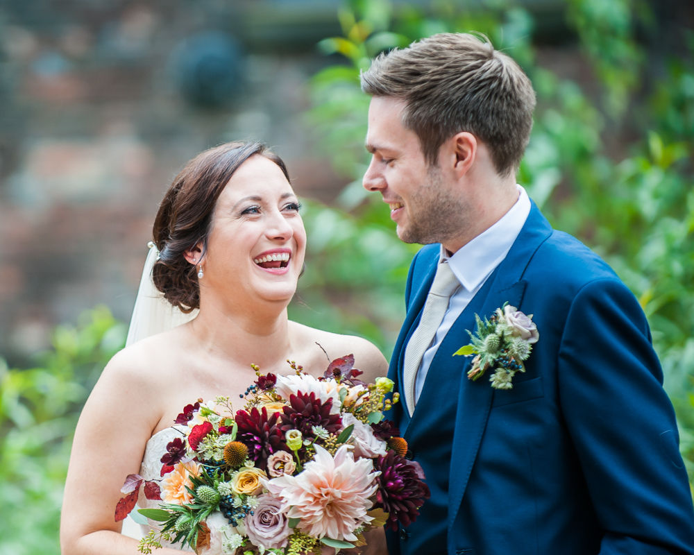 Bride laughing, Kelham Island wedding, Sheffield photographers