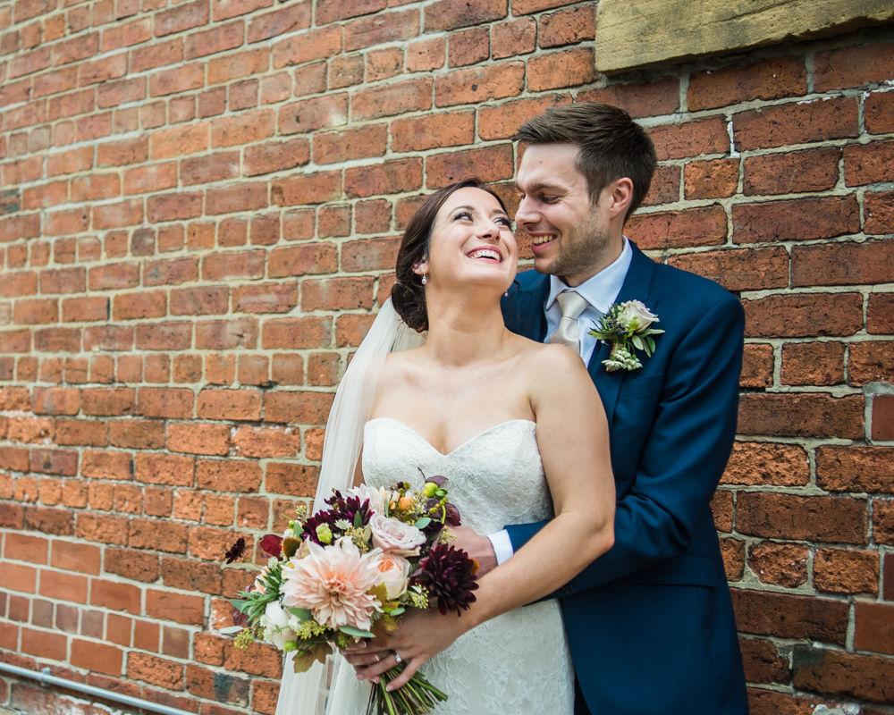 Laughing bride, Kelham Island wedding, Sheffield photographers
