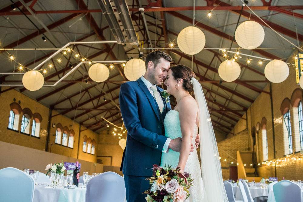 Bride and groom inside Kelham, Kelham Island wedding, Sheffield photographers