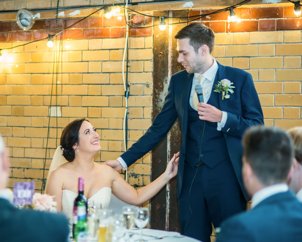 Groom's speech, Kelham Island wedding, Sheffield photographers