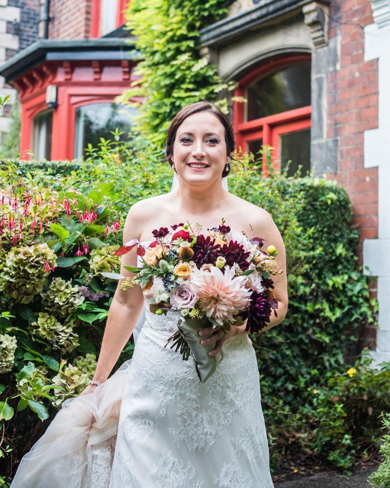 Bride leaving for ceremony, Kelham Island wedding, Sheffield photographers