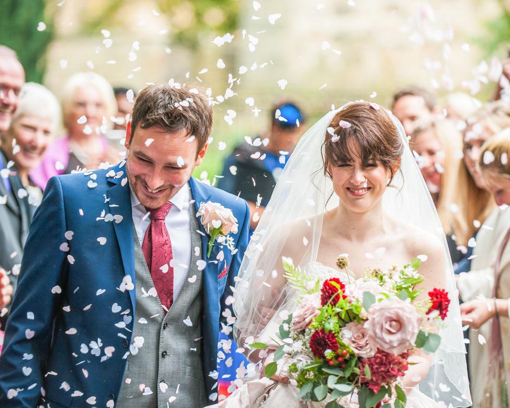 Confetti, St James Church, Sheffield wedding photographers