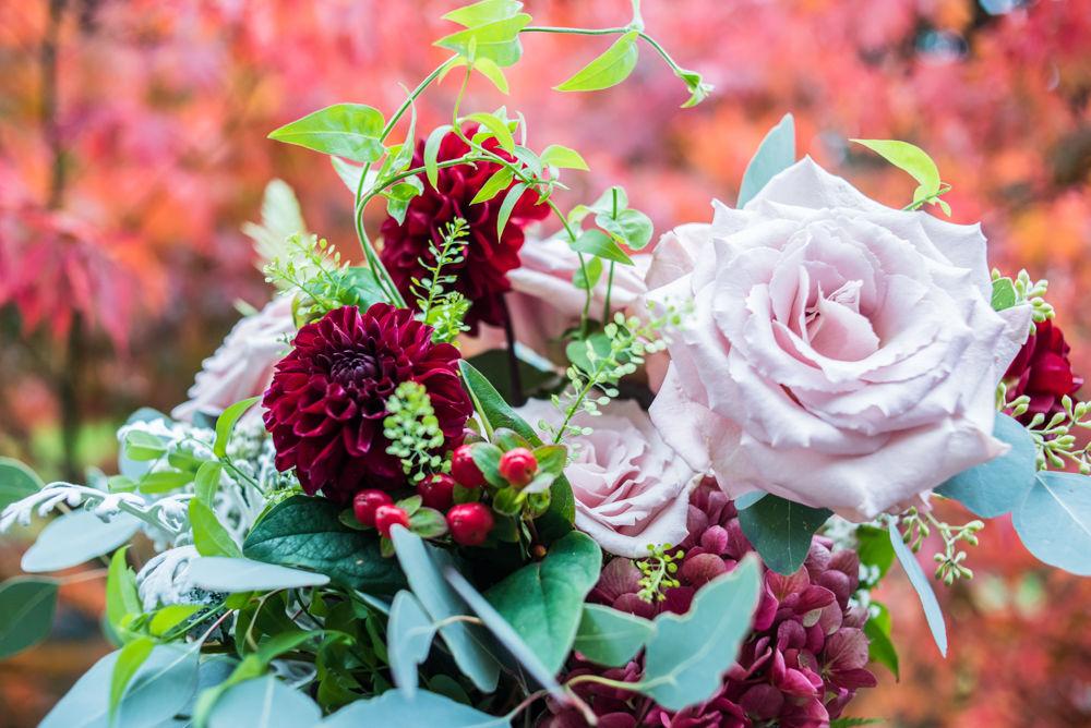 Autumnal wedding bouquet, Maynard Arms wedding, Sheffield photographers