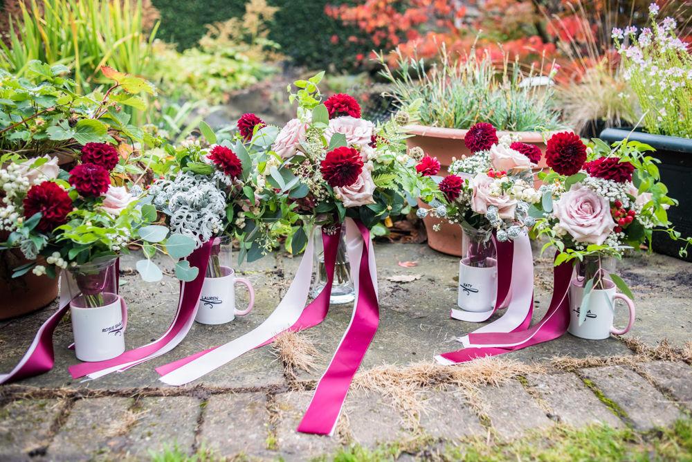Bridal bouquets, Maynard wedding, Sheffield photographers