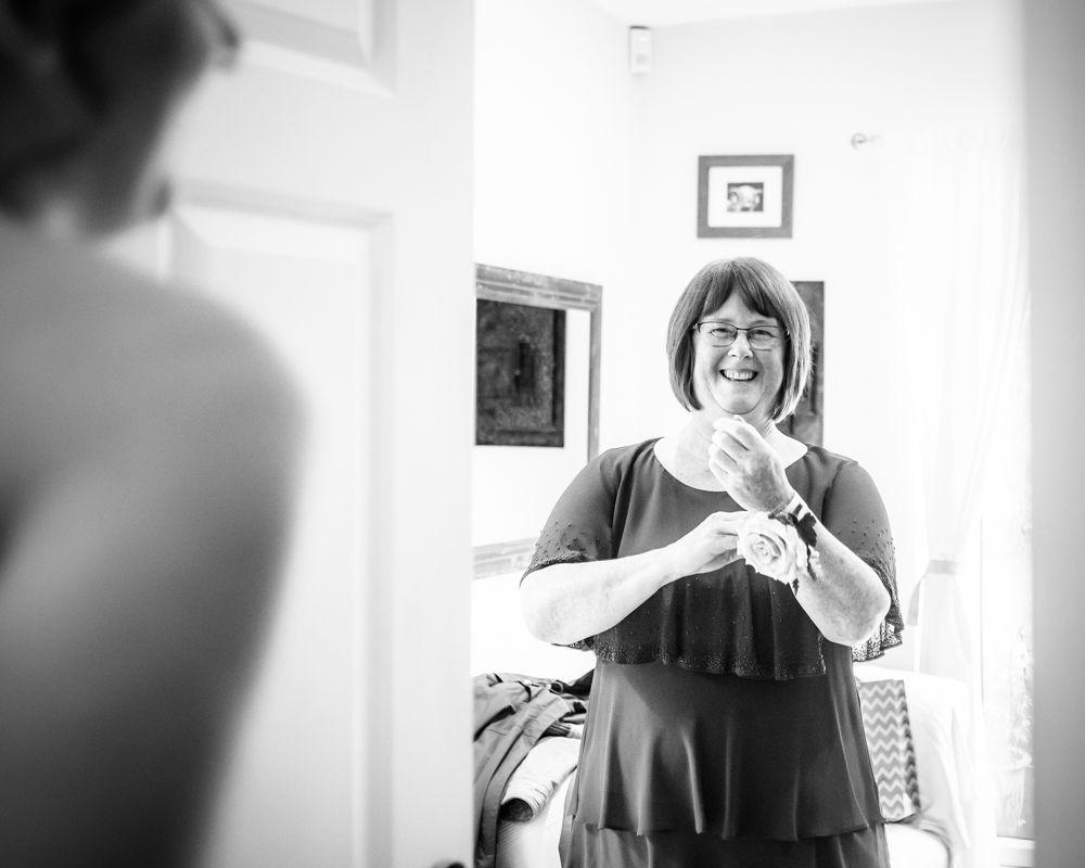 Brides mum seeing her, Maynard wedding, Sheffield photographers