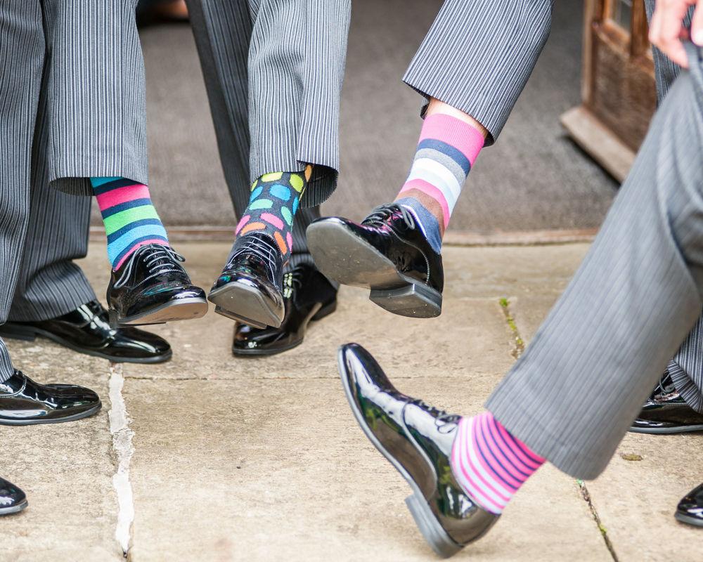 Sheffield wedding photographers, Groomsmen socks