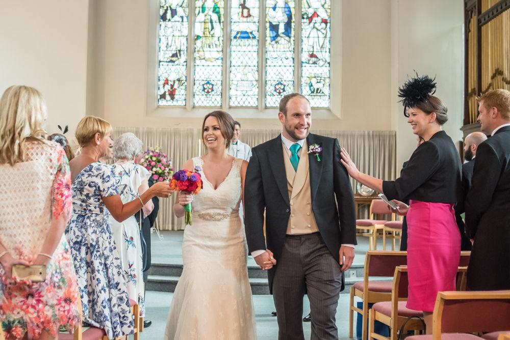 Walking down aisle, Sheffield wedding photographers,