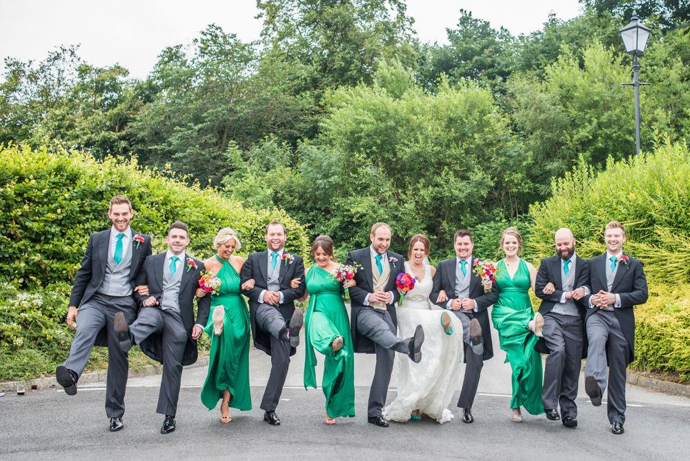 Sheffield wedding photographers,, Bridal party photos, Tankersley Manor Hotel