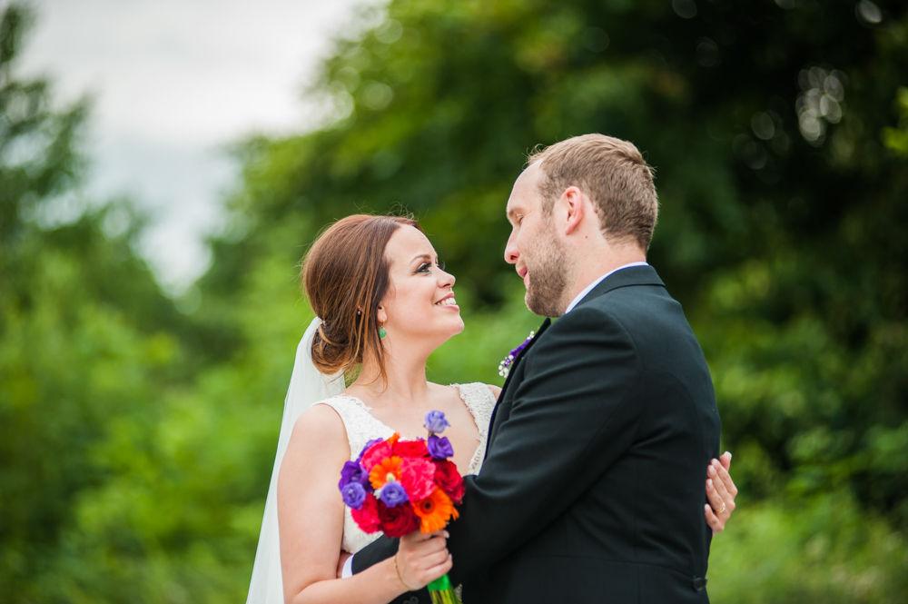 Sheffield wedding photographers, Tankersley Manor bride and groom photos